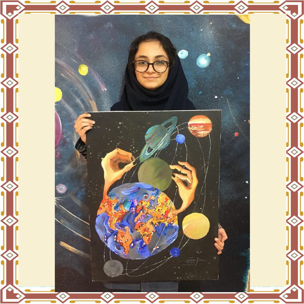 درخشش دختر عزیزمان آیلین مرندی در فراخوان بین المللی نقاشی